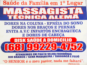 MASSAGISTA TÉCNICA ALEMÃ - MASSAGEM SEM DOR