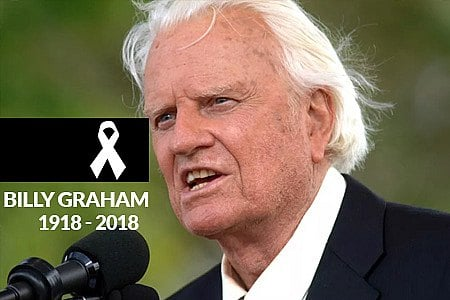 MUNDO GOSPEL DE LUTO; MORRE BILLY GRAHAM